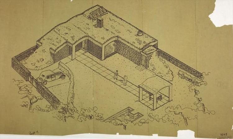 Le Corbusier, Maison de Week-End en La Celle-Saint-Cloud, 1934. Image © Fondation Le Corbusier