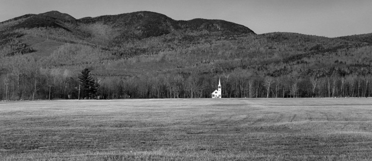 Opening Reception: White on White, Wonalancet Union Chapel, Wonalancet NH, cropped. Photo: Steve Rosenthal, © 1985.