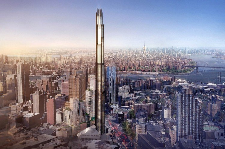 "The proposed ""340 Flatbush"" Avenue tower. Image © SHoP Architects; H/T New York Yimby"