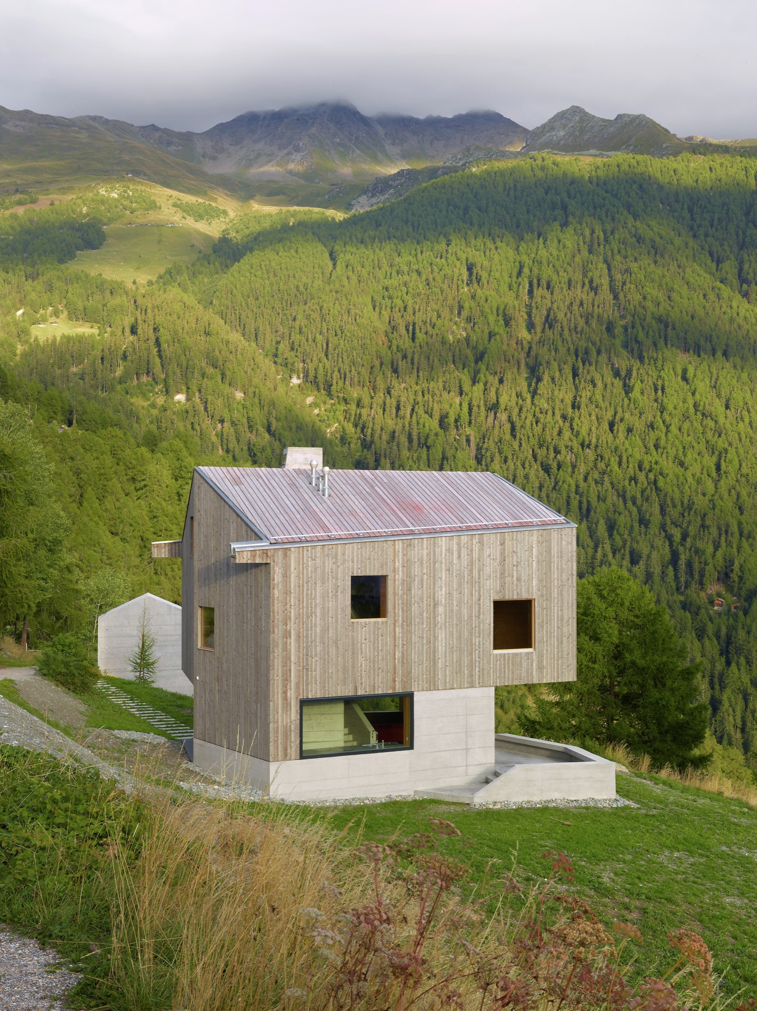 Gallery of chalet val d h rens savioz fabrizzi for Chalet d architecte