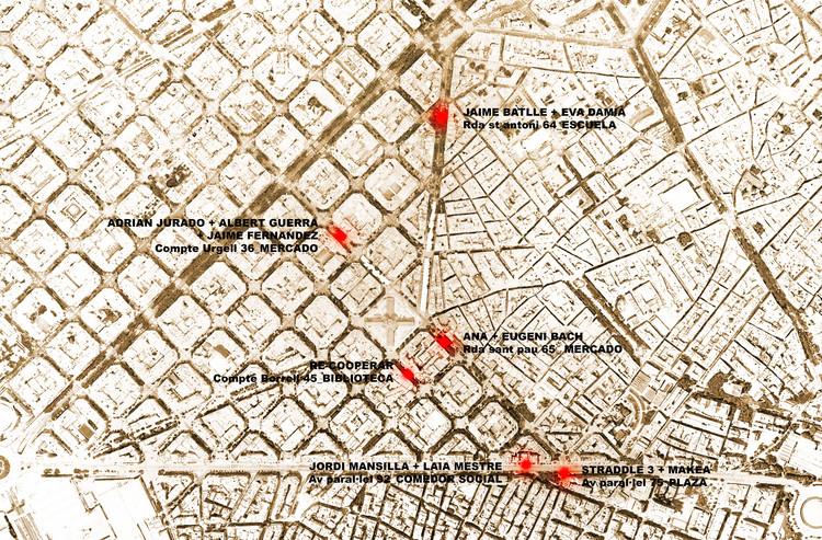 Ubicación de proyectos. Image Cortesía de Taller Vertical #UrbanMaking