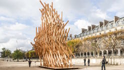 Kengo Kuma Designs Sculptural Pavilion in Paris