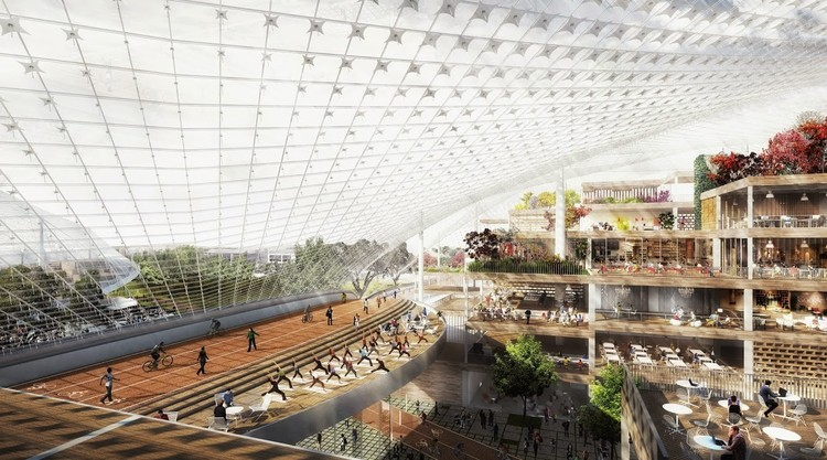 Diseño propuesto para las oficinas centrales de Google, junto a Heatherwick Studio. Image © Google / BIG / Heatherwick Studio