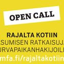 Open Call: From Border to Home - Housing Solutions for Asylum Seekers   Background image from October 19, 2015, when the competition was officially announced and the seminar From Border to home was held at the Museum of Finnish Architecture. Image: https://www.facebook.com/events/459376257575342/