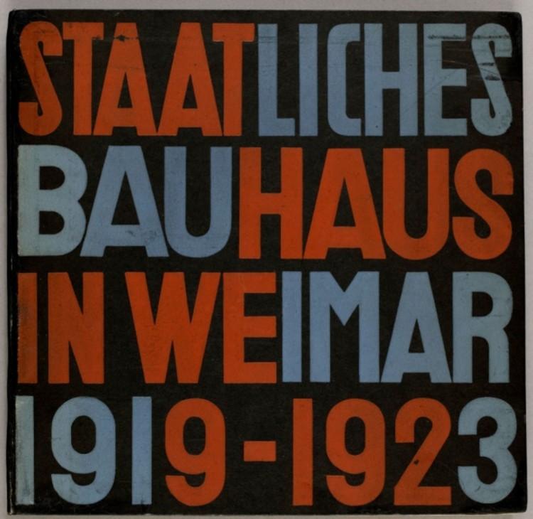 Staatliches Bauhaus Weimar, 1919-1923. Image vía Monoskop