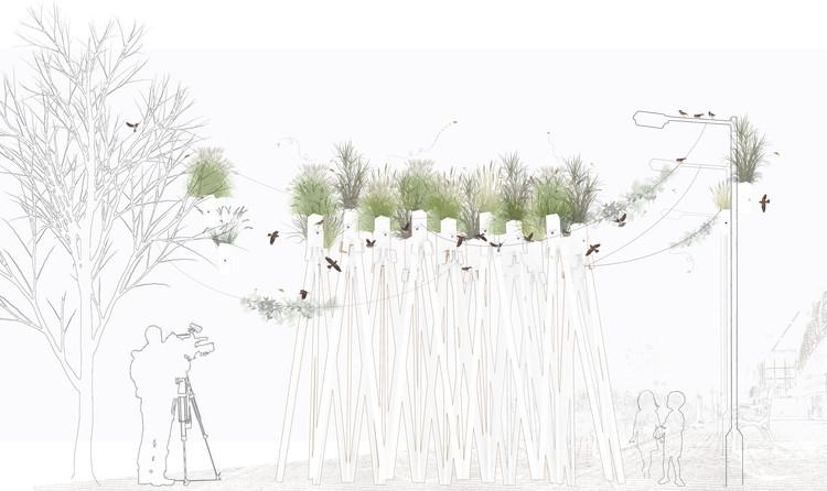 Park(ing) Birds. Image Cortesía de Taller Vertical #UrbanMaking