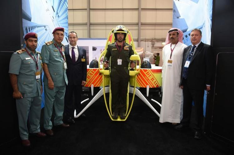 """El modelo de """"Martin Jetpack"""" que será utilizado en las próximas emergencias de Dubái. Imagen vía Gizmag"""