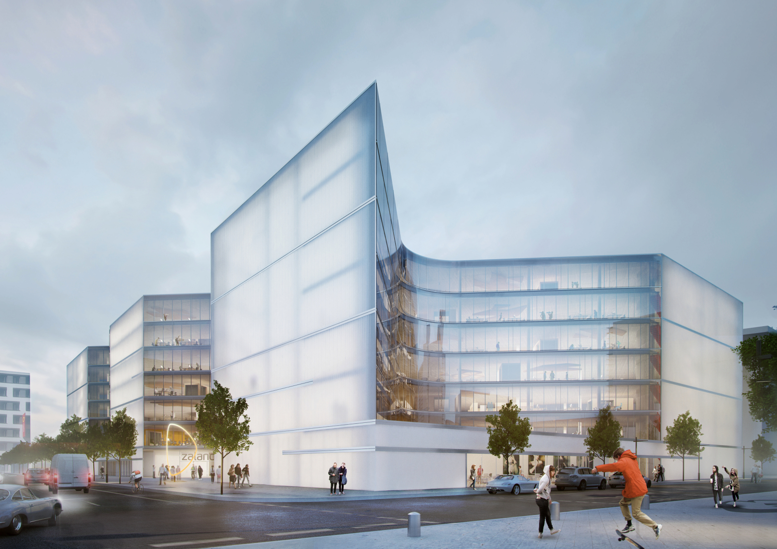 Henn architects wins competition to design new zalando for Carports berlin