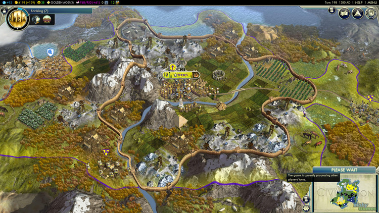 Cartography in the Metaverse: The Power of Mapping in Video Games, Interactive map in Civlization V (2010). Image © Firaxis Games