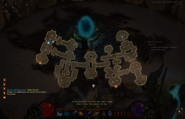 Superimposed map in Diablo III (2012). Image © Blizzard Entertainment