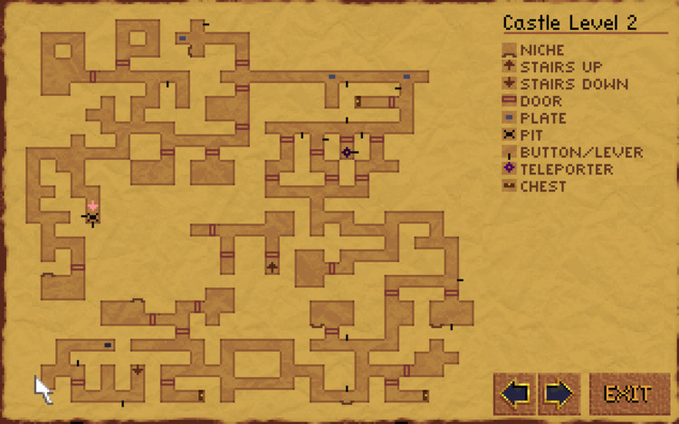 "Dungeon map in ""Lands of Lore: Throne of Chaos"" (1993). Image © Westwood Studios"