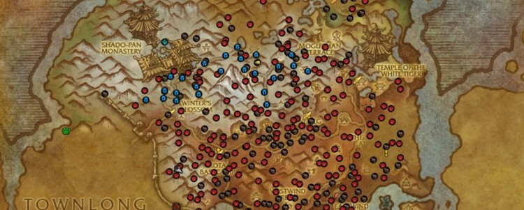 "Versión de un mapa de ""World of Warcraft"" (2011) generada por el add-on Pet Tracker. Image © Blizzard Entertainment"