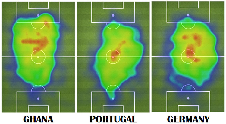 Field coverage of the American footballer Michael Bradley during the 2014 World Cup. Image via FIFA.com