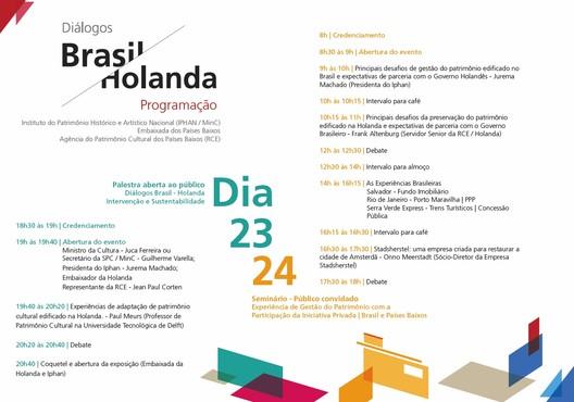 "Programação ""Diálogo Brasil/Holanda"""