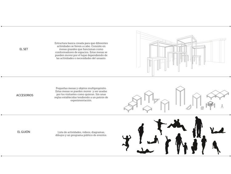 Set, accesorios y guión. Image Cortesía de El Equipo de Mazzanti