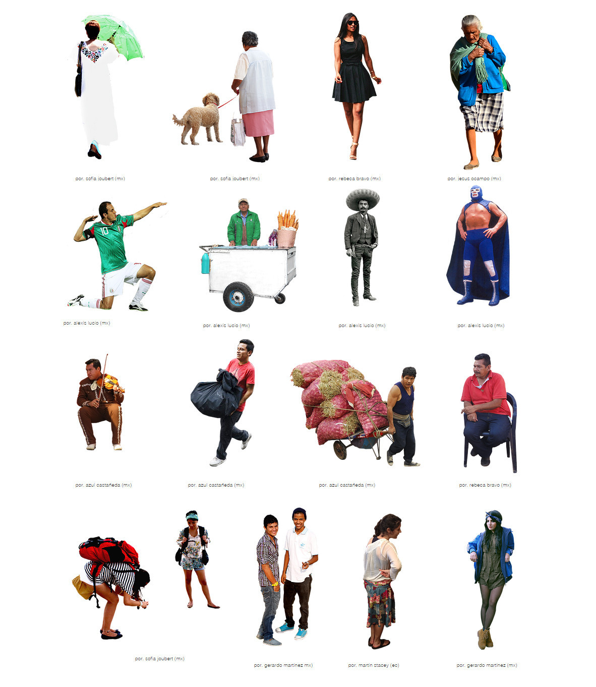 5 places to download free, ethnically diverse render people