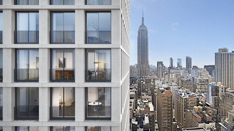 David Chipperfield Reveals His First Residential Project in New York, © Miller Hare