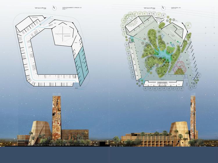 Propuesta de ALBERTO KALACH Y JUAN PALOMAR VEREA. Image vía Arquine