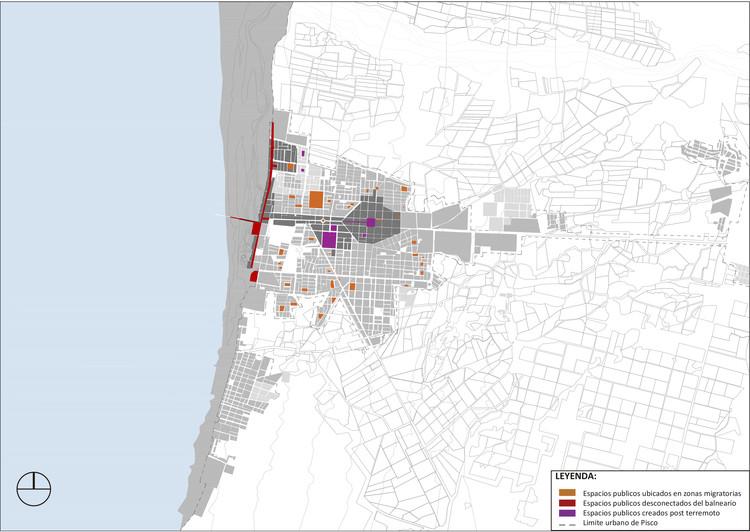 Cambios de actividades en los  espacios públicos originados por los cambios  morfológicos post terremoto. Image Cortesía de Cerasil Rangel Mungi