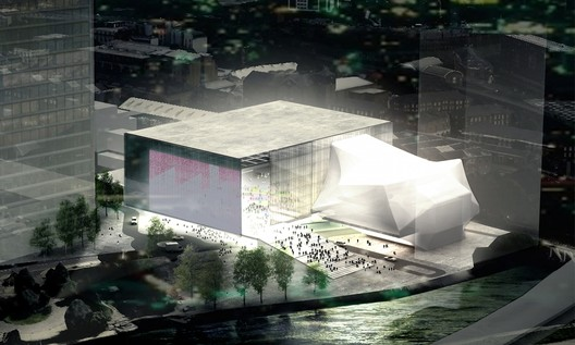 OMA's proposal for 'The Factory'. Image © OMA
