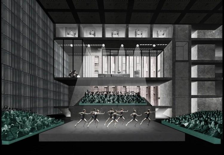 Vista Interior. Imagen © OMA