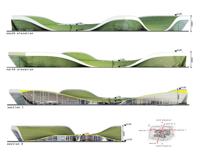 Elevaciones. Cortesía de  KUAN Architects