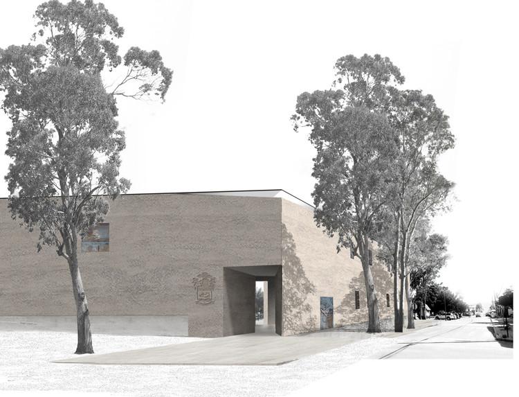 Matías Zegers, primer lugar en concurso Edificio Consistorial de Papudo, Acceso sur. Image Cortesía de Matías Zegers Arquitectos