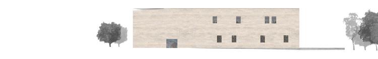 Elevación/Alzado Oriente. Image Cortesía de Matías Zegers Arquitectos