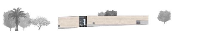 Elevación/Alzado Poniente. Image Cortesía de Matías Zegers Arquitectos