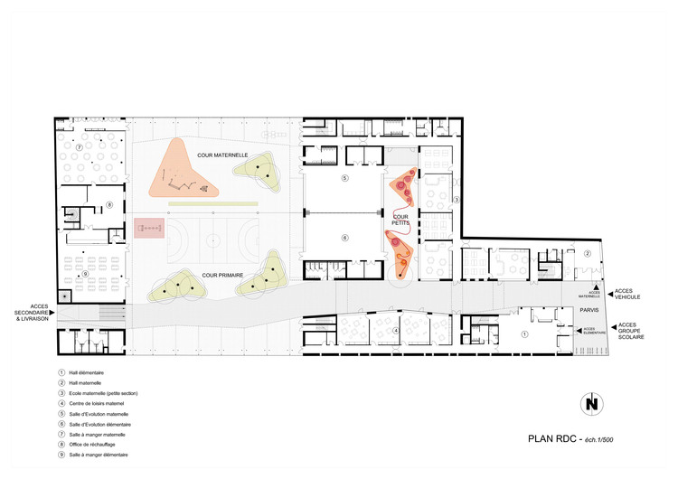 Multi purpose education centre atelier phileas archdaily for Multi purpose building plans