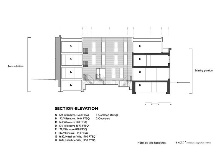 Sección - Elevación
