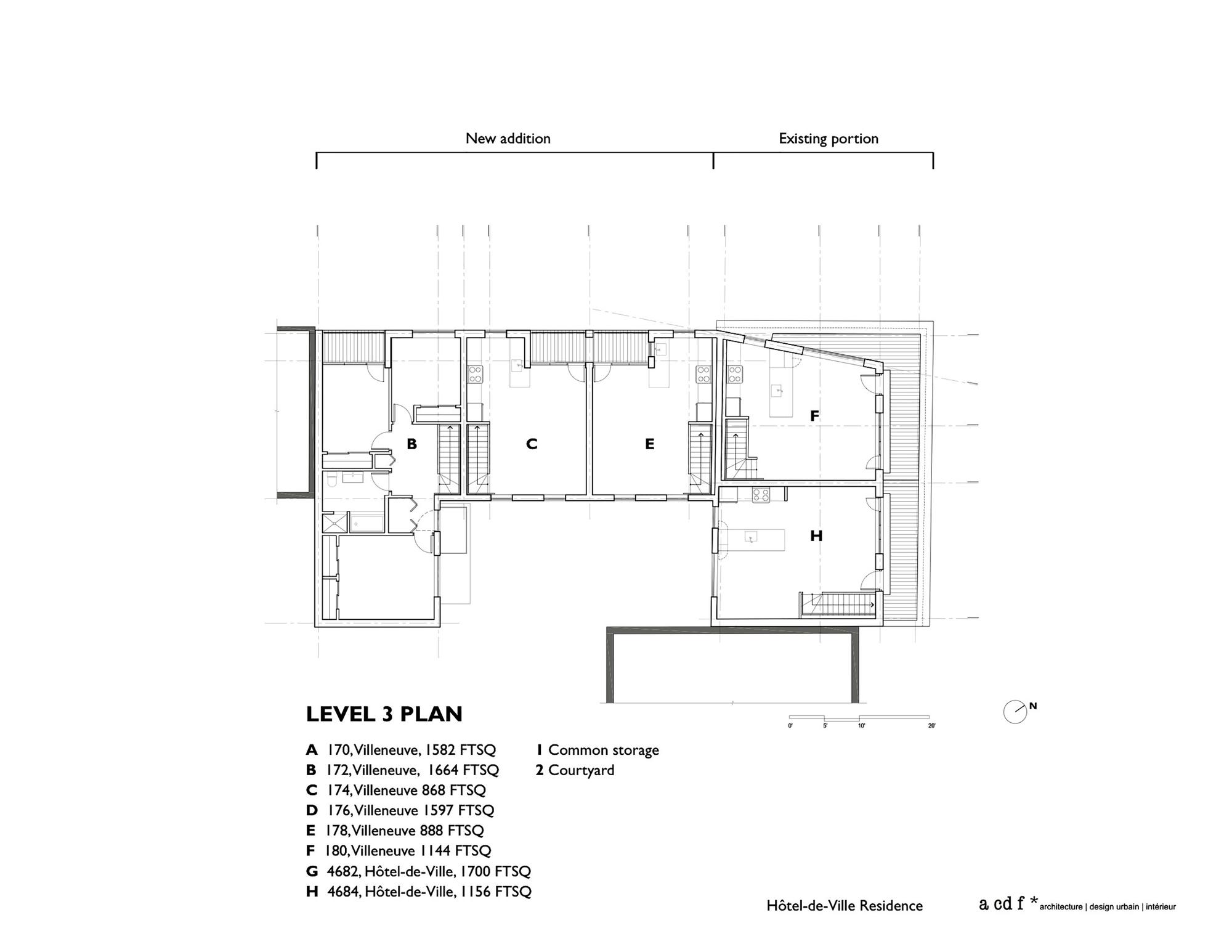Galer a de residencia h tel de ville acdf architecture 12 for Acdf architecture
