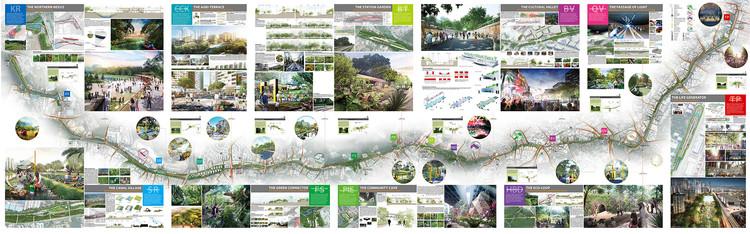 Nikken Sekkei Designs Master Plan to Revitalize a Former Railway Spanning the Entirety of Singapore , © Nikken Sekkei