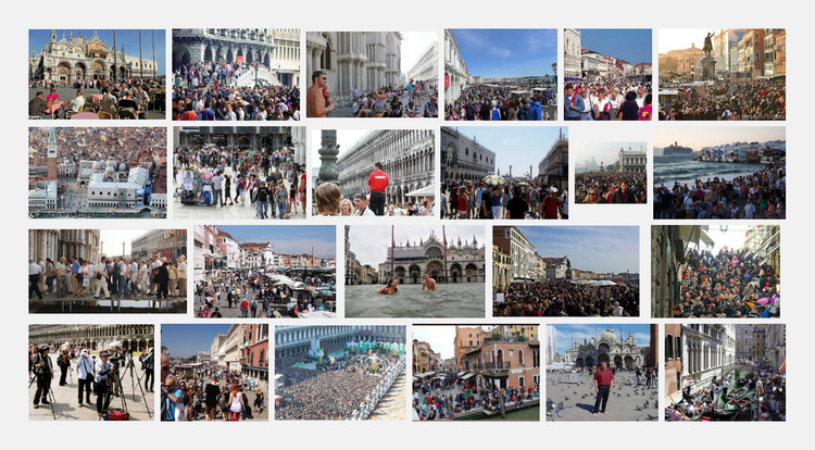 Turistas en Venecia. Image vía Google Images