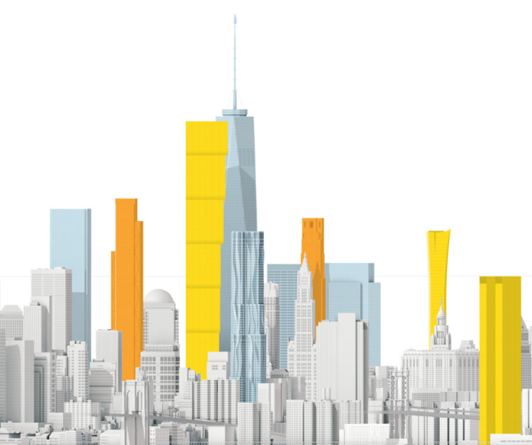 The New New York Skyline (Sunlight Not Included), The full diagram available on the National Geographic (link below). Image © National Geographic