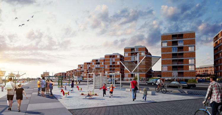 Segundo lugar profesional en nuevo plan maestro urbano habitacional en Alto Hospicio, Cortesía de Equipo Segundo Lugar