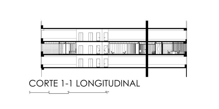 Corte Longitudinal 1-1