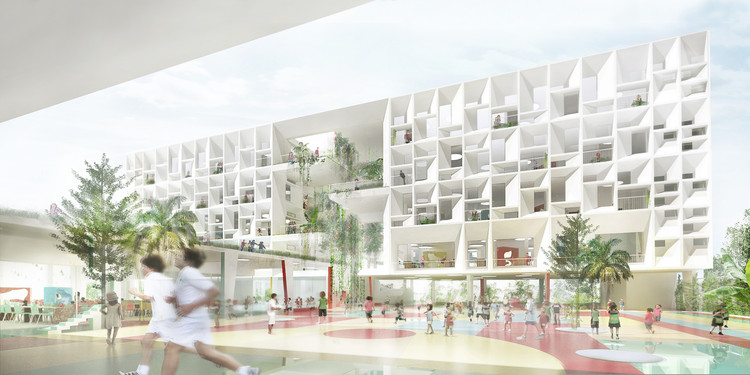 Henning Larsen Architects Designs French International School in Hong Kong, © Henning Larsen Architects