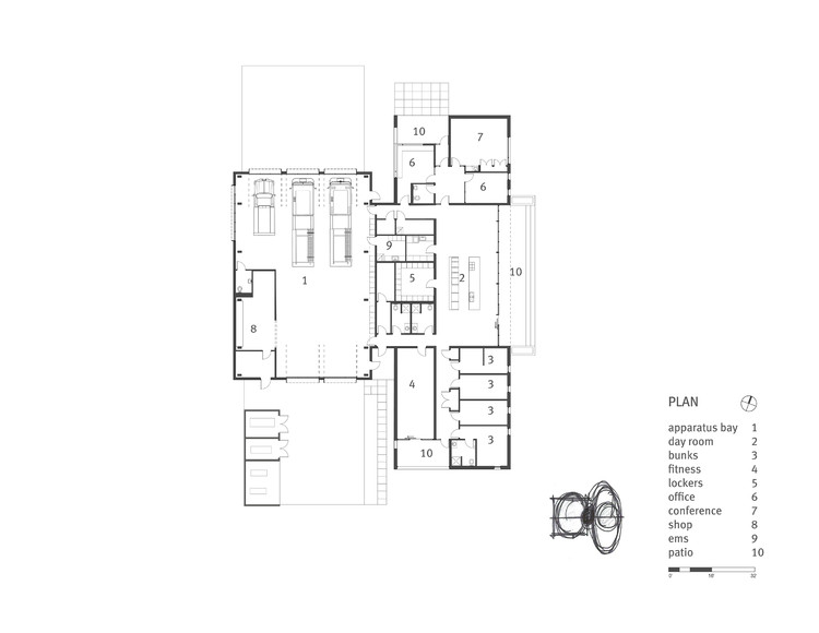 Fire station 76 hennebery eddy architects archdaily for Fire station floor plans design