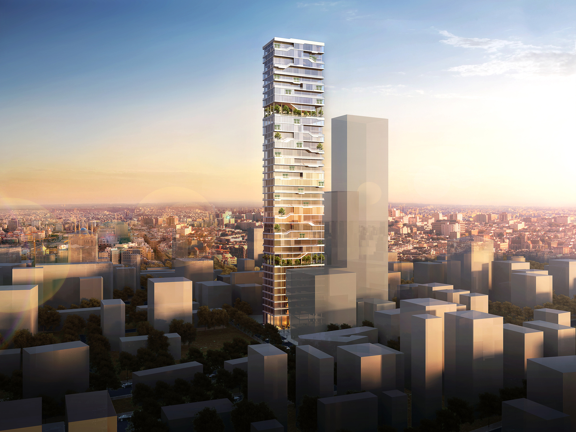Paralx designs new residential tower in beirut archdaily Modern residential towers