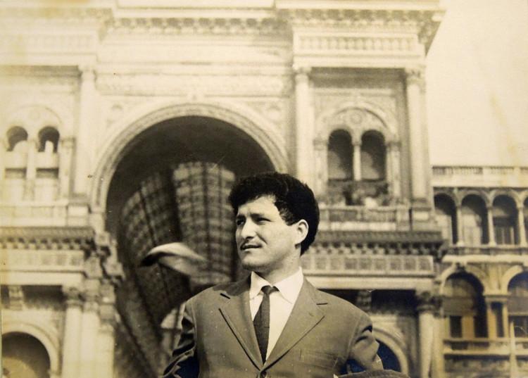 Durante la estadía en Italia. Image Cortesía de Giancarlo Enriquez
