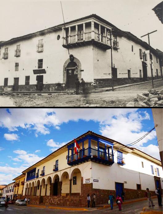 Restauración de la Casa del Inca Garcilaso de la Vega en Cusco. Image vía Repositorio PUCP