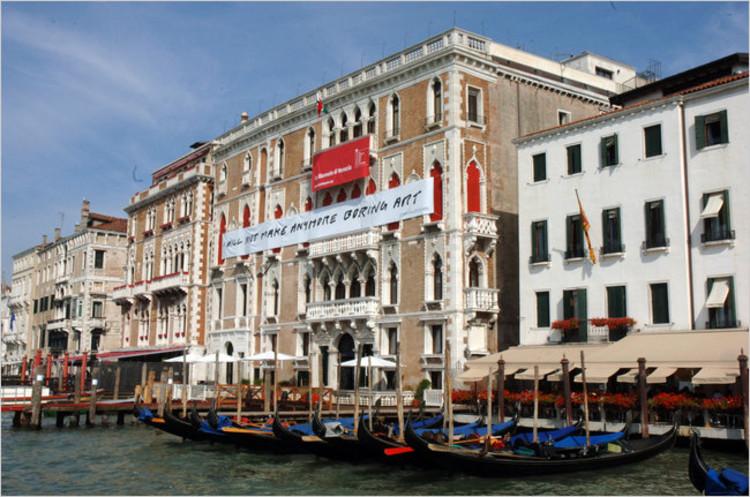 Resumen de la primera reunión para la 15. Muestra Internacional de Arquitectura de Venecia, Ca' Giustinian, sede de las oficinas de la Bienal de Venecia. ©  Giorgio Zucchiatti, Cortesía de La Biennale di Venezia