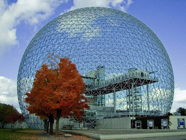 Buckminster Fuller's Montreal Biosphere. Image © Flickr user rodmaia licensed under CC BY-NC-SA 2.0
