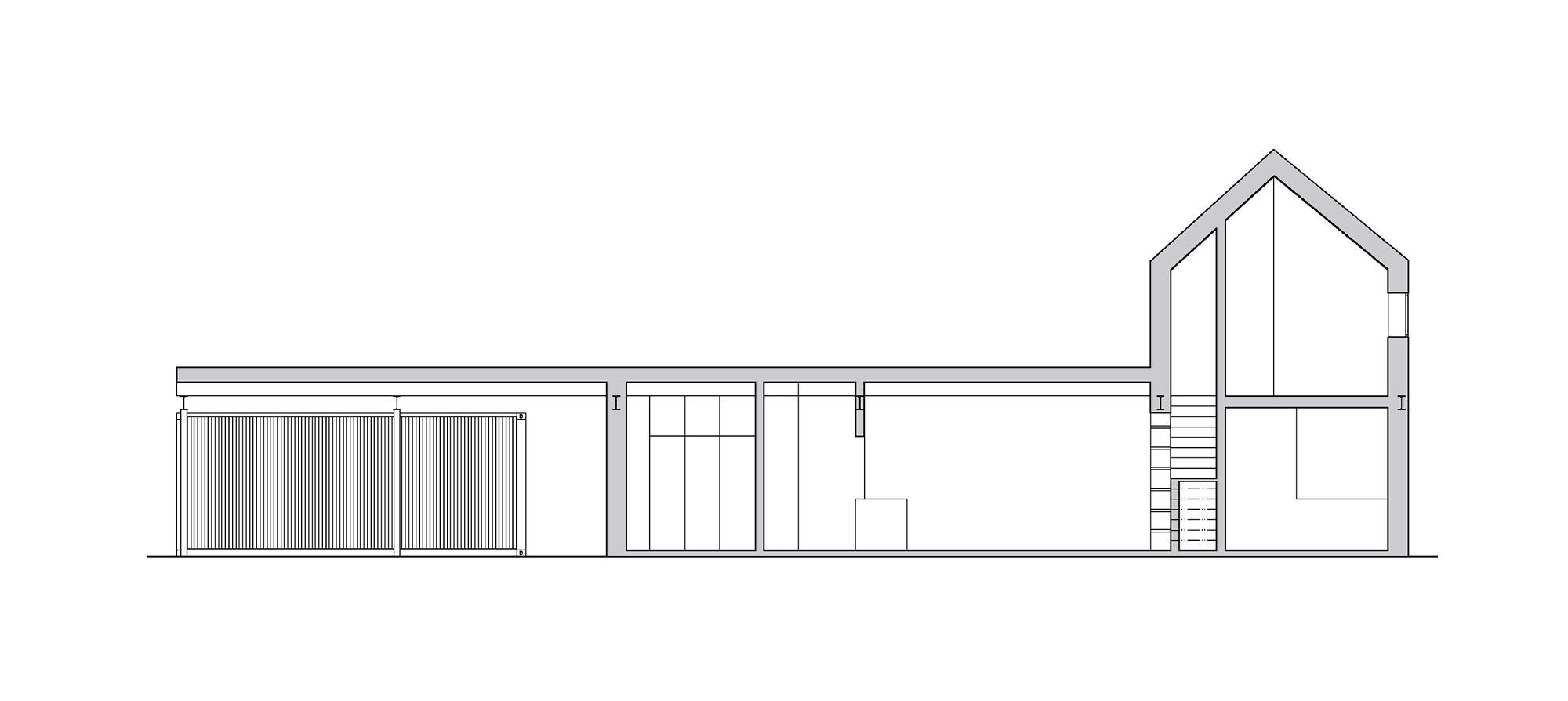 Galer A De La Casa Cercada Mj Lk Architekti 19