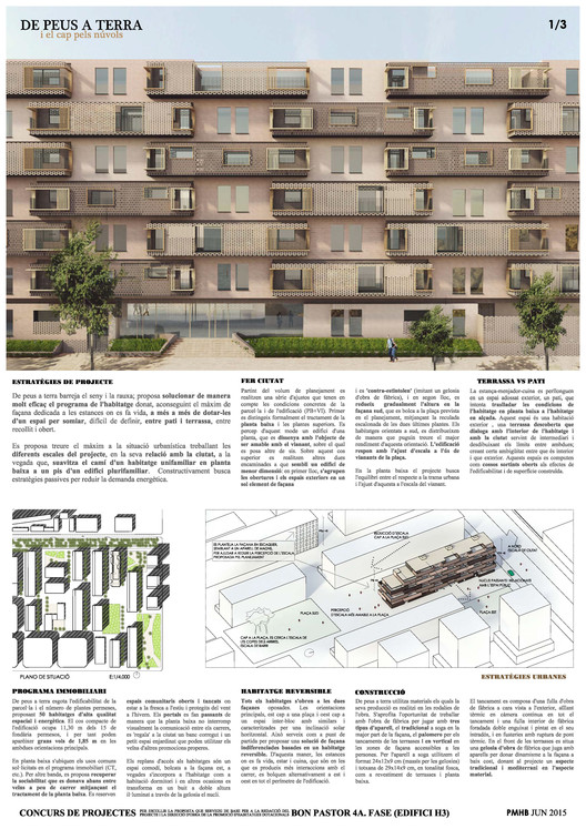 Lámina 01. Image Cortesía de Estudio UNTERCIO y Miel Arquitectos