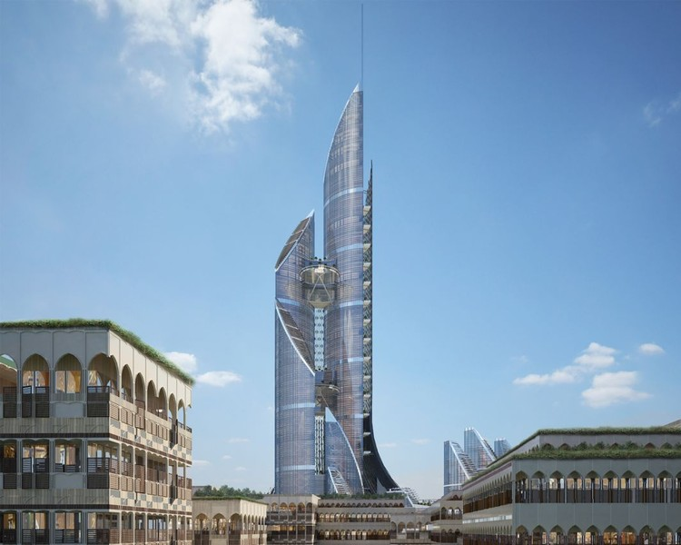 AMBS Proposes World's Tallest Tower in Iraq, © AMBS via Slate