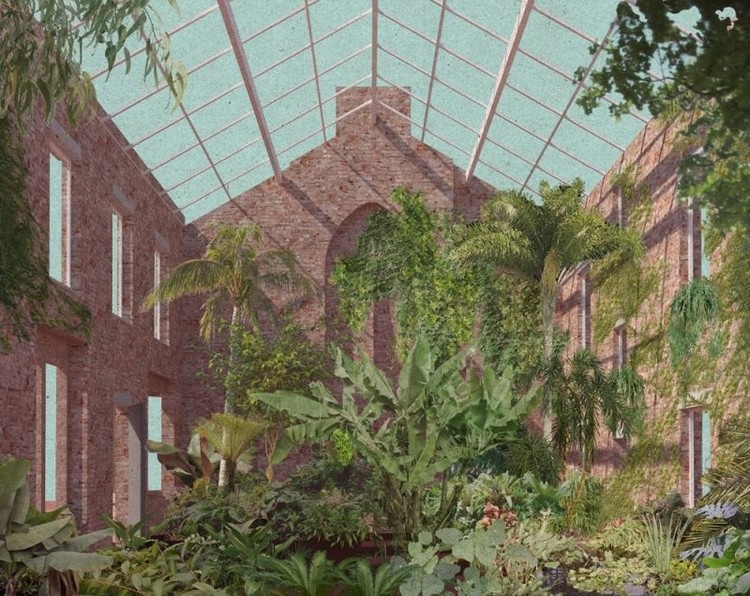 Assemble Awarded the 2015 Turner Prize for Granby Four Streets, Design for a winter garden in a derelict home in Granby Four Streets. Image Courtesy of Assemble