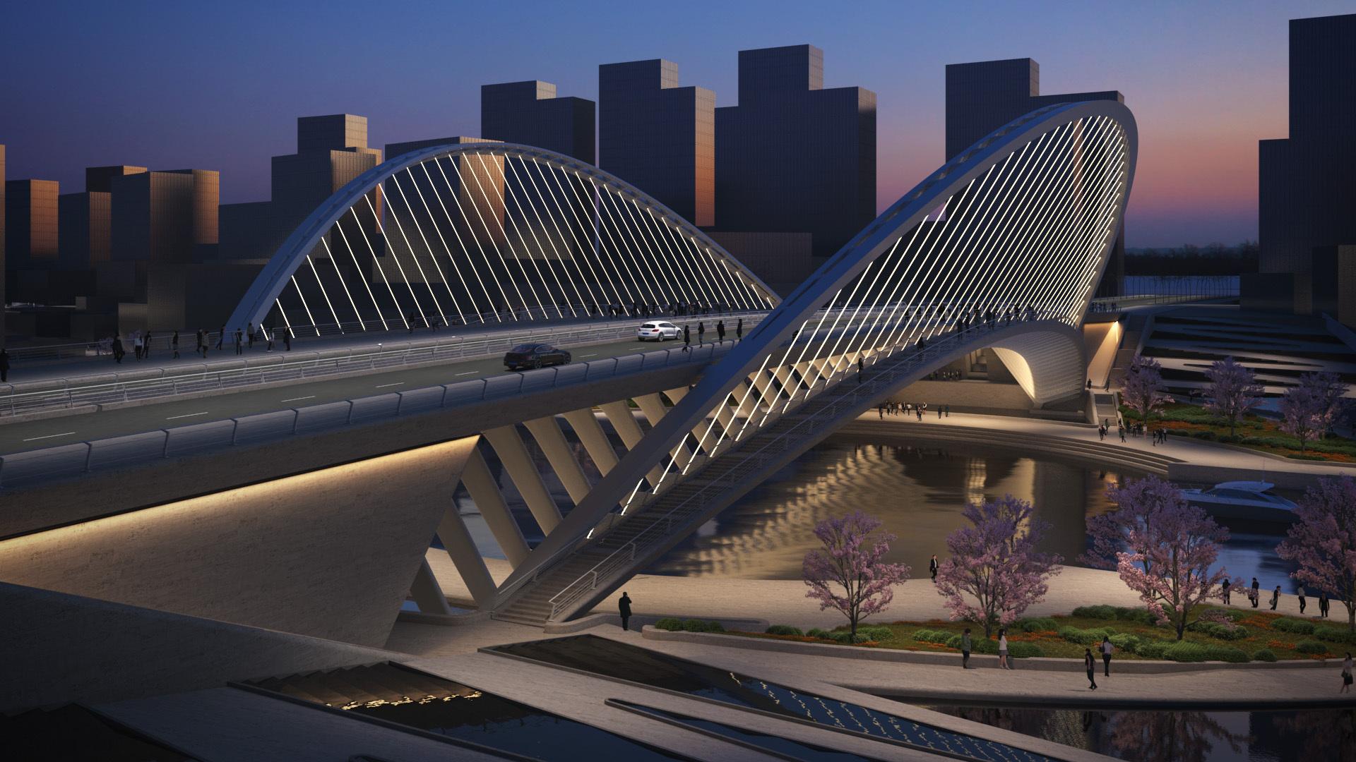 Gallery Of Santiago Calatrava Designs 3 New Bridges For