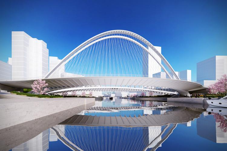 Puente Xianbi. Imagen © Santiago Calatrava LLC